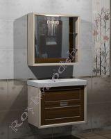 """Гарнитур для ванной """"Лестер 80"""" тумба с раковиной и зеркало шкаф"""