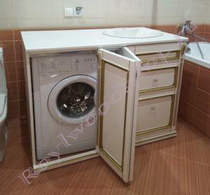 "Тумба для машинки ""Руссильон PROVENCE-120 белое золото"""