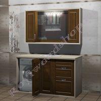 """Комплект мебели под стиральную машину """"Лестер ГРЭЙ 150"""" левое расположение машины"""